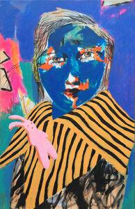 Igor Tishin, 'Blue portrait', 2019