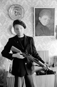 Chris Steele Perkins, 'Belfast. Identification with the Provos is reflected in the play of the children in the Catholic ghettos. Northern Island, Great Britain', 1978