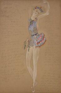 Natalia Goncharova, 'Costume for a Ballerine Dancer by Natalia Gontcharova, Watercolor and Pencil', ca. 1916