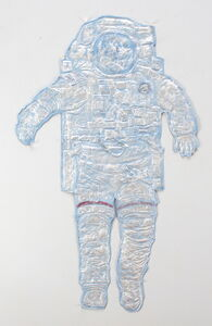 Kevin Sudeith, 'Blue Spaceman (Painted)', 2017