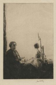 James McBey, 'Artist and Model', 1925