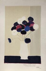 Bernard Cathelin, 'Anemones à la table noir', 1989
