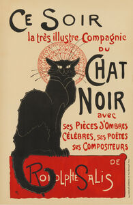 Théophile Alexandre Steinlen, 'Chat Noir / Ce Soir', 1896