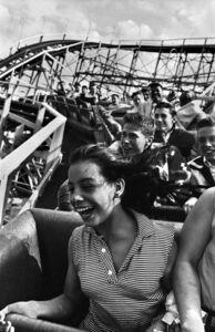 Harold Feinstein, 'Screaming on The Cyclone, Coney Island', 1952