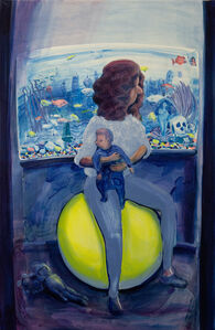 Hilary Doyle, 'Mother and Child on a Yoga Ball II (Fish Tank)', 2020