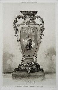 Félix Hilaire Buhot, 'Grande vase décoratif', 1880