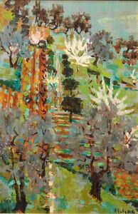 "Pierre LeLong, 'Foliage, ""Paysage du Midi"" Large Oil Painting', Mid-20th Century"