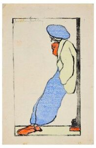 Josselin Bodley, 'Figure with Blue Beanie ', Early 20th Century