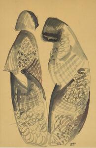 Bela Kadar, 'Two Figures', 20th Century