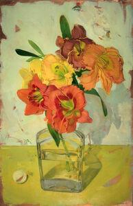 Benjamin J. Shamback, 'Day Lilles in Bouquet in Whiskey Bottle', 2018