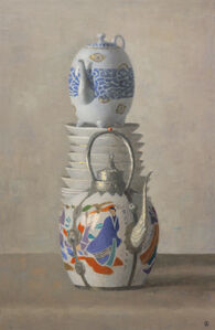 Olga Antonova, 'Asian Teapots and Plates', 2018