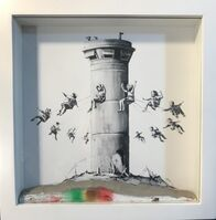 Banksy, 'Walled Off Hotel Box Set , 2017 Box Framed With Different Colored Rocks At The Bottom Of the Frame Making Each One Unique.', 2017