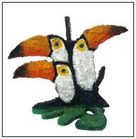 Hunt Slonem, 'Hunt Slonem Original Painting Wood Sculpture Birds Toucans Parrot Signed Artwork', 1994