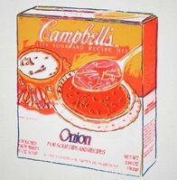 Andy Warhol, 'Andy Warhol 'Campbell's Onion Soup Box' Silk screen, 1986', 1980-1989