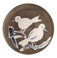 Pablo Picasso, 'Madoura Ceramic Plate-Oiseaux n. 95 Ramié 487', 1950-1959