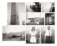Eight works: (i) Hong Kong Buildings; (ii) Hong Kong Harbour; (iii) Hong Kong Street (Truck); (iv) Hong Kong Harbour; (v) Natasha Grenfell; (vi) Christopher Makos; (vii) Picture of a Man; (viii) Patrick Cooney