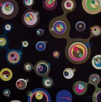 Takashi Murakami, 'Jellyfish Eyes-Black 3', 2004