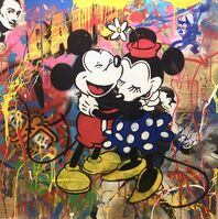Mr. Brainwash, 'Mickey & Minnie', 2016