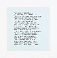 "Jenny Holzer, '""End of the USA"" Inflammatory Essays', 1982"