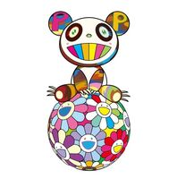 Takashi Murakami, 'Panda sitting on flower ball', 2020