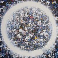 Takashi Murakami, 'Enso: Memento Mori Red on Blue', 2016