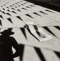 Vivian Maier, 'Untitled (Shadow in the Parking Lot0', 2013