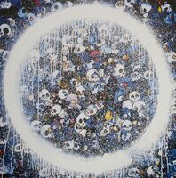 Takashi Murakami, 'Enso: Memento Mori Red on Blue', 2015