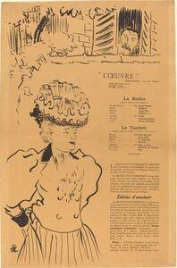 Hermann-Paul, 'La Brebis; Le Tandem', 1896