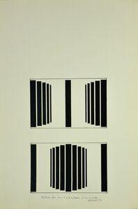 Waldo Balart, 'Mutación #1, del 2:2 a los extremos, al 2:2 al centro', 1981