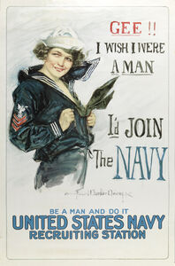 Howard Chandler Christy, 'Gee I wish I were a Man, I'd Join the Navy', after 1917