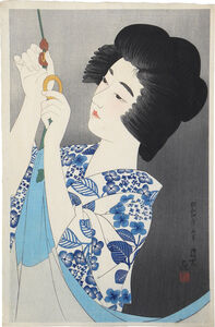 Itō Shinsui, 'The First Collection of Modern Beauties: Mosquito Net', ca. 1929
