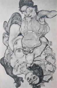 Egon Schiele, 'Two Girls, Lying Entwined (Layni Portfolio)', 1917