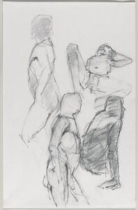Jeannette Farrow, 'Untitled (Four poses: Standing, view from left; lying; standing, view from right; and sitting)', 2016