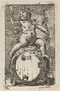 Gaetano Gandolfi, 'The Infant Bacchus Astride a Wine Barrel'