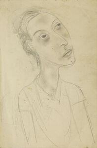 Circle of Diego Rivera, 'Portrait of Marevna, side profile, head and shoulders'