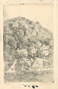 Martin Erich Philipp, 'Fränk.  Dorf Eggloffstein', 1909