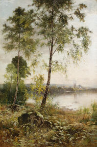 Ernest Parton, 'View by a Lake', Late 19th century