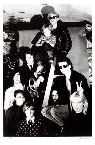 Billy Name, 'Andy Warhol with The Velvet Underground, Nico's son Ari Delon, Mary Woronov, and Gerard Malanga', 1966