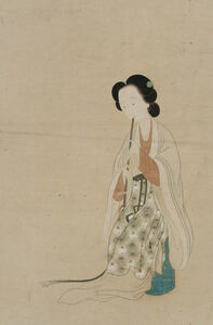 Gai Qi, 'Lady Playing a Flute', Undated