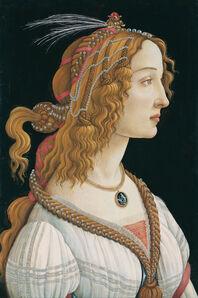 Sandro Botticelli, 'Idealized Portrait of a Lady (Portrait of Simonetta Vespucci as Nymph)', ca. 1475