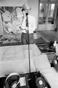 Robert Levin, 'Andy Warhol on the Phone at Factory, NYC 1981', 2015