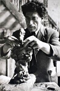 Sabine Weiss, 'Alberto Giacometti dans son Atelier', 1954