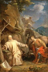Louis Galloche, 'Saint Martin Sharing his Coat with a Beggar', ca. 1737