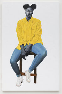 Otis Kwame Kye Quaicoe, 'Portrait in Yellow', 2019