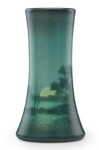 Edward T. Hurley, 'Scenic Vellum vase with moonlit lake, Cincinnati, OH', 1910