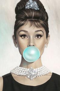 Michael Moebius, 'Audrey Hepburn Tiffany Blue', 2017