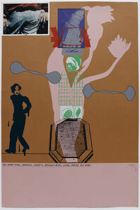 R. B. Kitaj, 'His Every Poor, Defeated, Loser's, Hopeless Move, Loser Buried (Ed Dorn)', 1966
