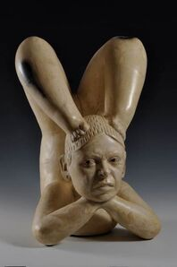 Kukuli Velarde, 'India Patarrajada, She will do all the acrobacies the Master orders, pero no esperes que te quiera mucho… Tlatilco/Olmec, Mexico. 1200-800 BC', 2008