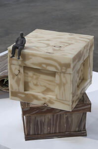 Jeanne Silverthorne, 'Dad on Crate XX on Crate III', Dad (2013; Crate XX (2014); Crate III (2012)