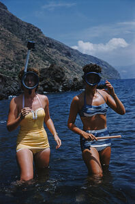 Slim Aarons, 'Snorkelling (Slim Aarons Estate Edition)', 1954